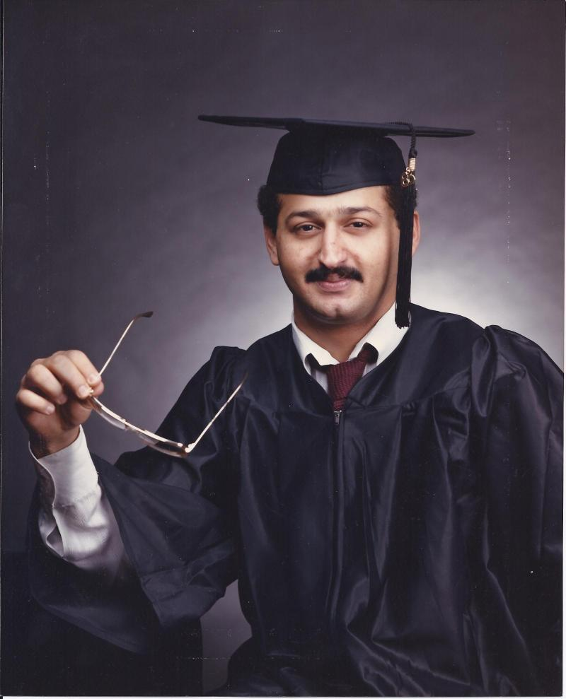 Graduation portrait at NTSU - Denton, Texas USA in 1986