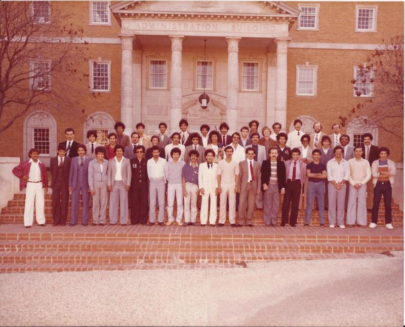 Scolarship students in NTSU - Denton, Texas USA in 1981