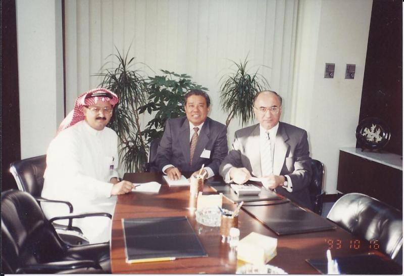 Meeting with Arab National Bank M.D., at Riyadh H.Q. in 1992