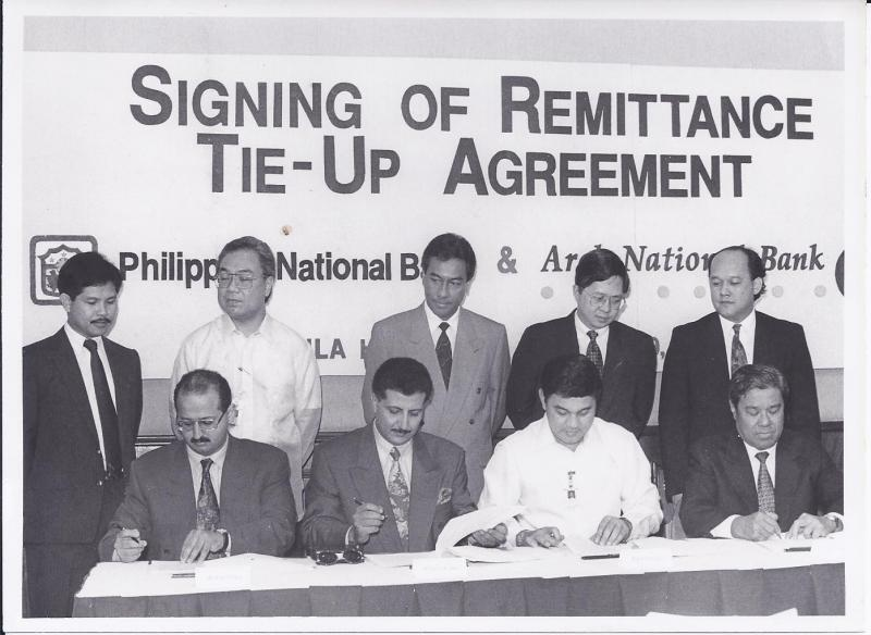 signing up agreement with RCPC in Manila in 1993