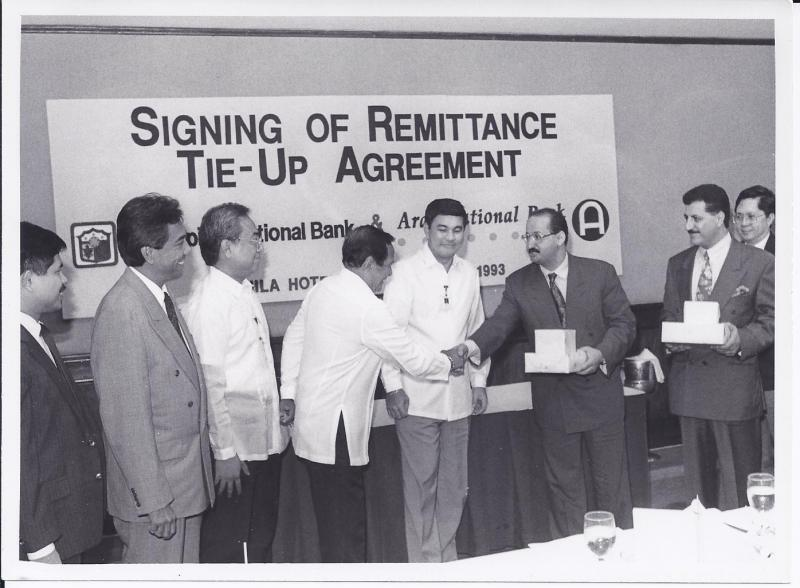 Deal signed with PNB - Manila, Philipine in 1993